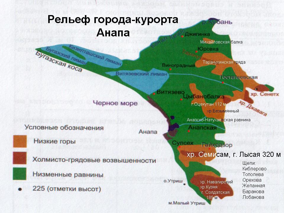 Начало Анапской долины