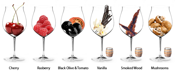 Стандартные ароматы пино нуара