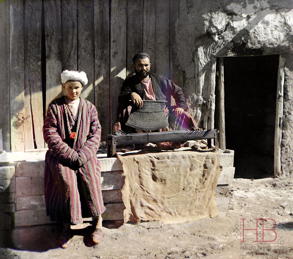 Шашлычная в Самарканде. Фото Прокудина-Горского 1911 г.