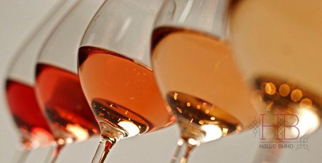 Оттенков розовых вин - десятки