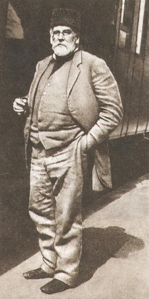 Голицын в 1913 году на станции Владиславовка