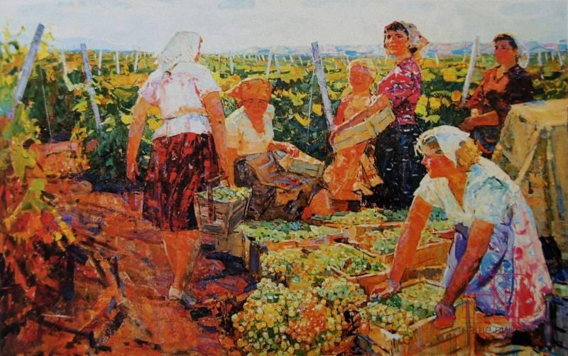Бернадский Валентин Данилович Сбор винограда 1974 г