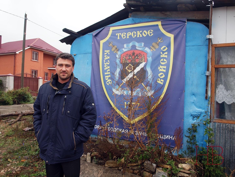 Михаил Самарин на казачьем подворье