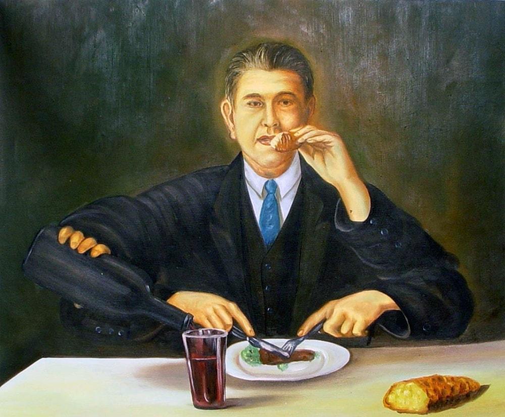 Рене Магритт. Автопортрет с четырьмя руками